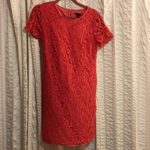 Ann Taylor coral lace dress